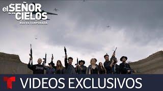 El Señor de los Cielos 7 | Detrás de cámaras del entierro de Aurelio Casillas | Telemundo
