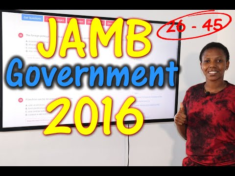 JAMB CBT Government 2016 Past Questions 26 - 45