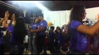 Santos de calça jeans.. vigília da juventude 2015_