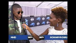 Rokhaya Diallo interviewe MHD (BET AWARDS 2017)