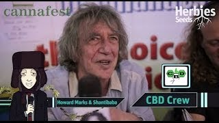 Howard Marks & Shanti Baba @ Cannafest 2013 Prague / Praha - Mr Nice Seeds & CBD Crew