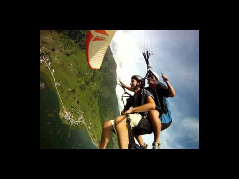 Paragliding in Nepal from the Sarangoth near Pokhara