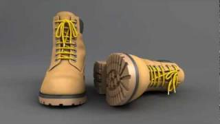 Boots 3d CG model turntable animation