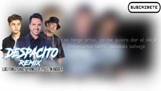 Luis Fonsi, Daddy Yankee Ft Justin Bieber - Despacito | Letra/Lyrics