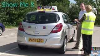 Driving Test - Show me Q8 How would you check the brake lights are working?