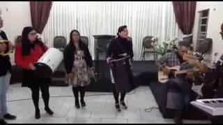 """Ensaio do grupo de percussão """"Ministério Fonte"""" - IEP - Fonte do que Clama"""