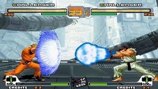 Ryo vs Ryu Haou Shoukou Ken vs Shinkuu Hadouken Svc Chaos