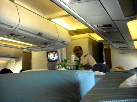 PK 268 Karachi to Kathmandu April 2011 Inflight announcement
