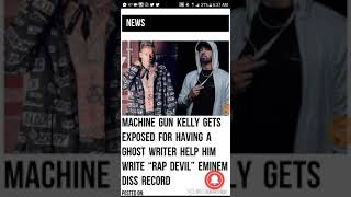 Machine Gun Kelly Had Ghost Writer Help Him On Rap Devil (Eminem Diss) !