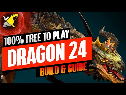 EASY 100% FREE TO PLAY DRAGON 24!! | Champion Builds & Guide | RAID: Shadow Legends