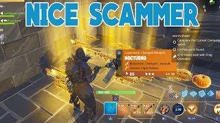 NICE Scammer Scammed Himself (Scammer Gets Scammed) Fortnite Save The World