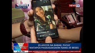 BP: 25-anyos na babae sa Cainta, Rizal, patay matapos pagsasaksakin nang 25 beses