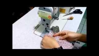 Aparelho para calcinha com tensor para máquina reta/20U/Zig Zag (elástico bico de pato)