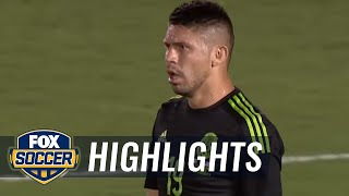Tempers flare during USA vs. Mexico after Peralta, Guzan collide | 2015 CONCACAF Cup Highlights width=