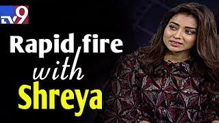 Rapid fire with Shriya - TV9 Telugu