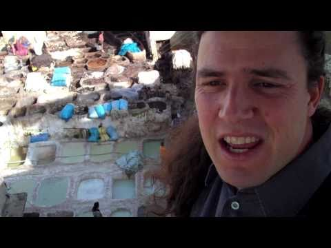 Ancient Leather Tannery Madness in Fez Morocco