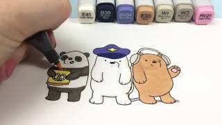 Baby Bears on a Plane - Cute Coloring