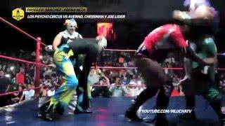 Los Psycho Circus vs Averno, Chessman y Joe Lider, Arena Neza