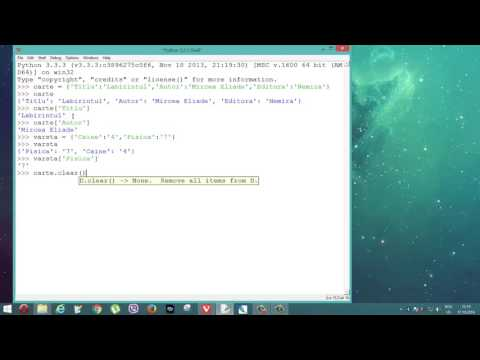 Tutoriale Video Python despre dicționare nr. 19