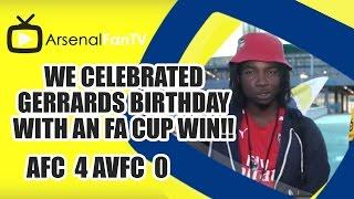 We Celebrated Gerrards Birthday With An FA Cup FIFA Win!! (Lumos) | Arsenal 4-0 Aston Villa
