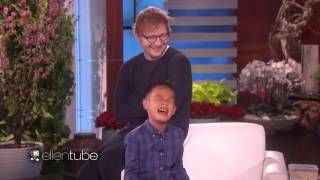 this little boy serenaded ellen by singing ed sheeran's thinking out loud