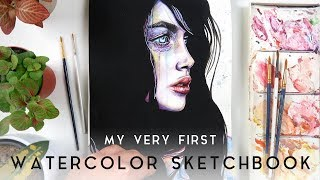 HOW I STARTED WITH WATERCOLORS // Old Watercolour Sketchbook Tour