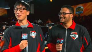 Hilarious interview with DoubleLift and Aphromoo, feat. savage burns and hugs! All-Stars 2015