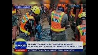 Saksi: 57, patay sa landslide sa Itogon, Benguet; 55 naman ang nasawi sa landslide sa Naga, Cebu