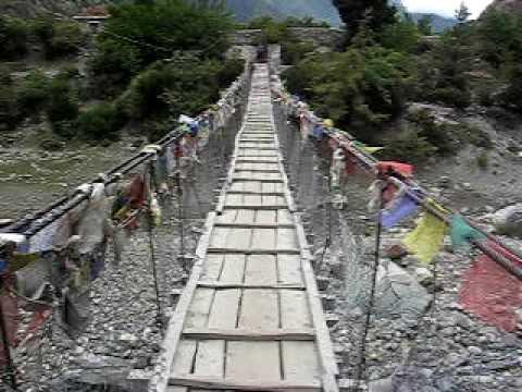 nepal anapurna petit pont