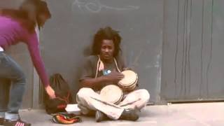 Stand by me - Amazing street singer (In perfect tune with background music added)