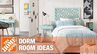 A video showing dorm room ideas for decorating.
