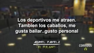 Adriel Favela - El Fulano (Letra)