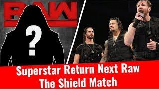 The Shield Match | Superstar Return On Next Raw | WWE UK Tour | Roman Reigns Return News Update