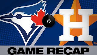 Alvarez, Valdez power Astros past Blue Jays | Blue Jays-Astros Game Highlights 6/15/19