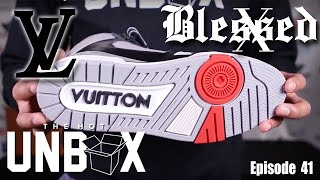 Louis Vuitton SS19 Virgil Abloh Trainer Sneaker Boot x Spiral Back T-Shirt x Forever Blessed Hoodie
