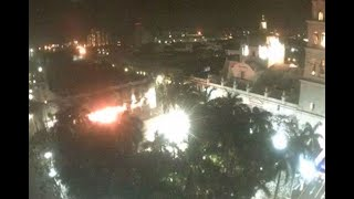 Difunden video de incendio en Palacio Municipal de Veracruz