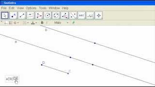 Drawing Parallel Lines in GeoGebra