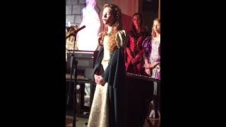 "Mary Chandler Hicks sings ""O Holy Night"" 12 years old"