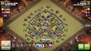 Lavaloon attack without queen #th9 max base