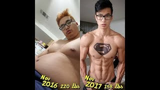 220 to 158 lbs Unbelievable Transformation (Physique Update) width=