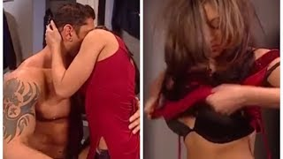 Melina and Batista have sex in the dressing room