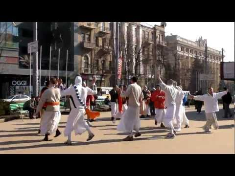 Hare Krishna followers Dancing in Ukraine