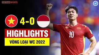 Highlights Việt Nam vs Indonesia | Quang Hải - Công Phượng tỏa sáng ngút trời - VN đại thắng Indo