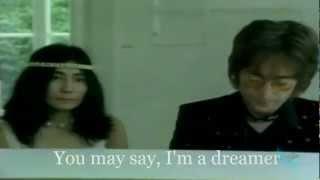 John Lennon - IMAGINE (720p-Official Video+Lyrics on Screen)