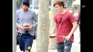 David Beckham habiskan waktu dengan anak