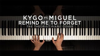 Kygo ft. Miguel - Remind Me to Forget | The Theorist Piano Cover