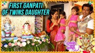 Karanvir And Teejay Bring Twin Ganpati At Home   Ganesh Chaturthi