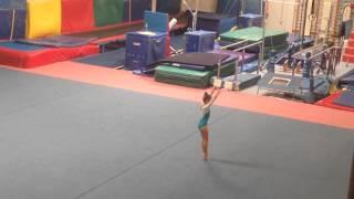 Gymnastics level 3 floor routine 2014 by 6yo Milana Sliusar