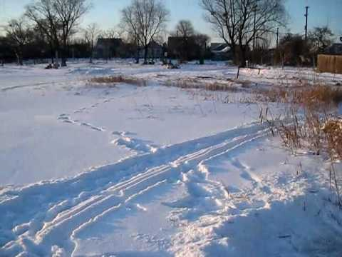 Зимой по замёрзшей по реке MVI 2680