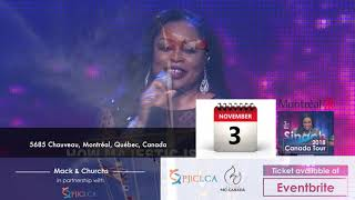 Sinach Canada Tour 2018 . Montreal November 03,2018